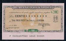 MINIASSEGNI: BANCO DI NAPOLI - COOP EMILIA VENETO BOLOGNA 1.3.76 - CIRCOLATO