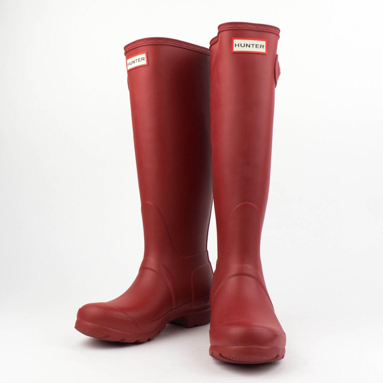 NIB HUNTER Military Rosso Original Tour Tall Rain Boots Shoes Size US 9 EU 40