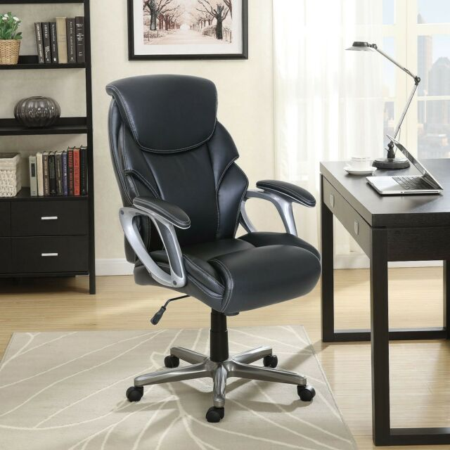 Serta Manager S Office Chair Bonded Leather High Back Black Up To 250 Lbs