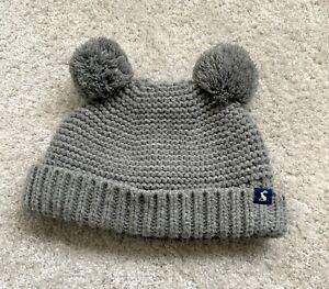 Joules-Baby-Grey-Pom-Pom-Hat-12-24-Months
