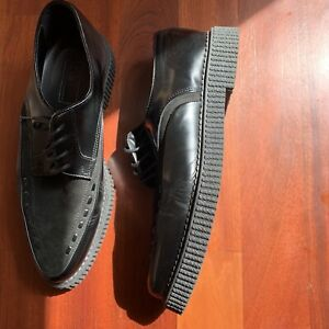Black Leather With Creeper Sole Size