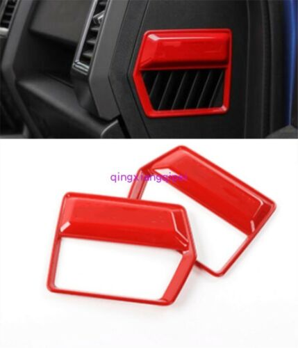 Red Interior Dashboard Side Panel Cover Trim For Ford F150 F-150 2015 2016-2018