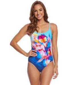 M-L S L Sarasana Bandeau One Piece Swimsuit 14 $178 GOTTEX 8 12 M 10