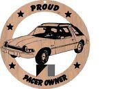 Amc Pacer Sedan Wood Ornament Engraved