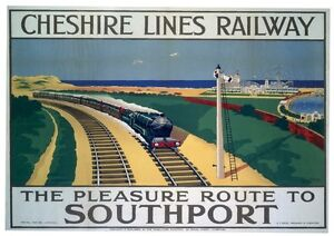 201 Vintage Railway Art Poster Southport