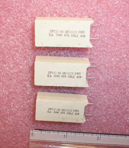10 5.6 Ohm 10W 10/% RADIAL CEMENT WIREWOUND RESISTORS CPCC10-5.6-10/% DALE QTY
