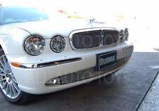 Jaguar XJ8 XJR Stainless Upper & Lower Bumper Mesh Grille kit 2004-2007 X350