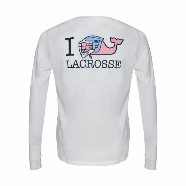 f518e1901 NWT Boys Vineyard Vines Shirt Lacrosse Whale L S I Whale LAX White Cap B2