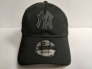 c4af9690 New York Yankees Cap New Era 9Twenty Adjustable 2019 Black Clubhouse ...