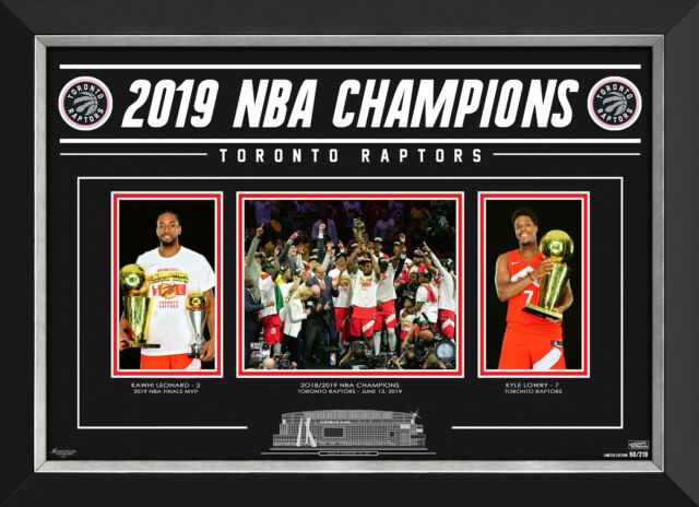 Toronto Raptors 2019 NBA Champions - Limited Edition - Collector Photo