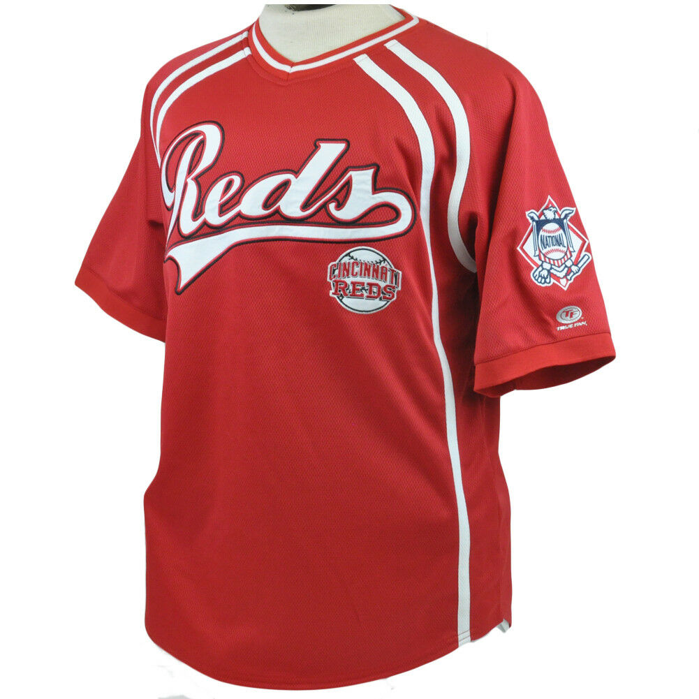 MLB Trikot Netz Hemd Authentisch Echt Fan Nationalen League Cincinnati rots M  | Moderater Preis