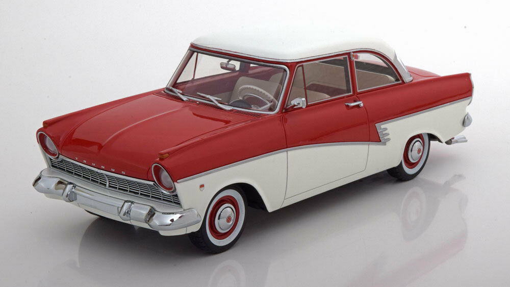 1957 Ford Taunus 17M P2 Red White by BoS Models LE of 504 1 18 New Release