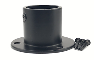 Black Finished Decking Rope Cup Ends To Fit Diameter 24mm Ropes Decking.