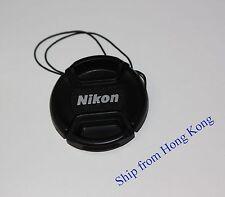 77mm Front lens cap Center-pinch leash for Nikon