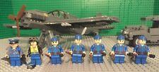 Custom Lego WW2 German ME-109 Fighter, 3T Fuel Service Truck, Pilot & Crew