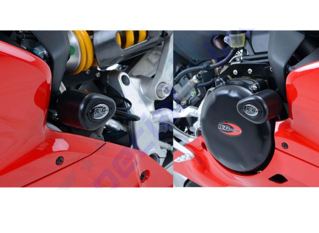 R&G AERO CRASH PADS / FRAME SLIDERS BOBBINS FOR DUCATI PANIGALE 959 2016 >