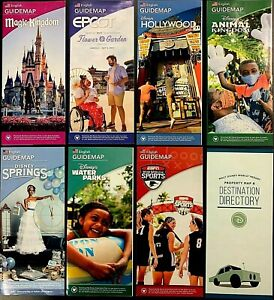 NEW-2021-Walt-Disney-World-Theme-Park-Brochures-8-Current-maps-RARE-BONUS