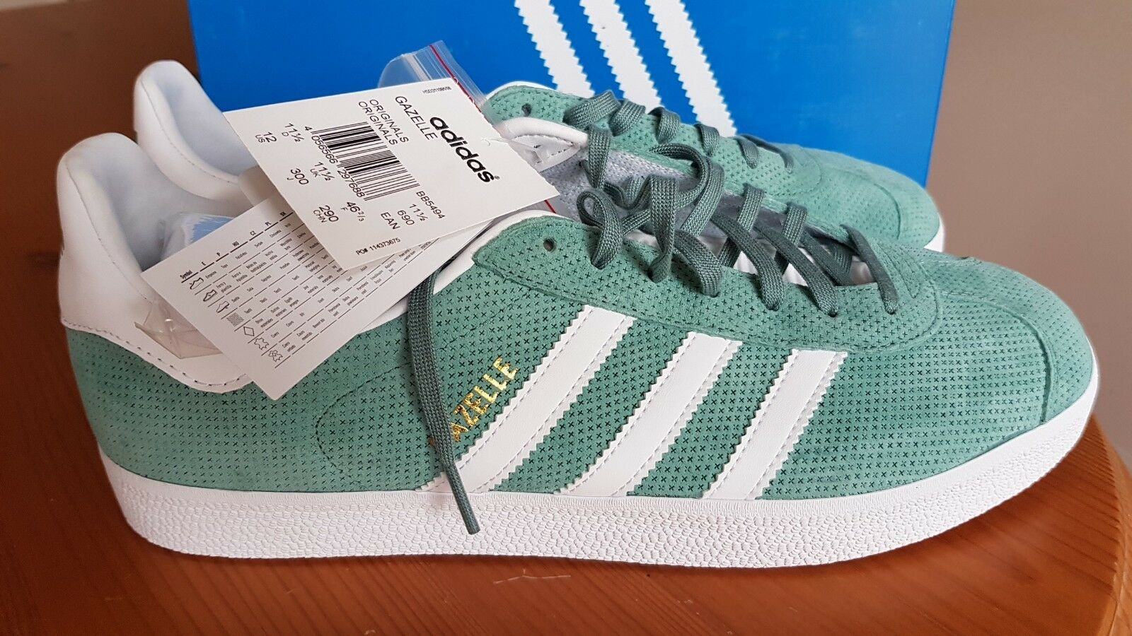 ADIDAS ORIGINALS GAZELLE Homme Taille 12 1 2 (EUR 48) BNWT Brand New in Box