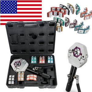 FDA* Hydraulic Hose Crimper Crimping Tool Set Manual Air Conditioner Car Repair