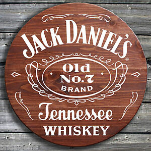 Traditional Jack Daniels Whiskey - Barrel End Style Wooden Pub Sign - Hand Made gRkfgVXm-09094148-763032062
