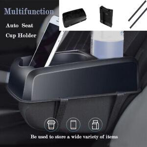 Auto Seat Seam Wedge Car Drink Cup Holder Travel Drink Mount Stand Black Storage