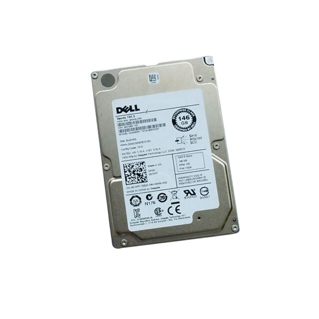 "Dell 61XPF 2.5 "" Server HDD,146gb 15k, SAS 6gbps, Seagate Savvio 15k.3"