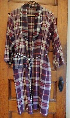 Sz M Nick Nora Vintage Camp Blanket Wedding Gift Men/'s Women/'s Unisex His Hers Beacon Brand Robe 1940/'s 40/'s 1950/'s 50/'s Red Brown