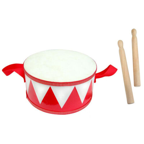 NEW Toy Wooden Marching Drum w/ sticks Kids Musical Instrument Toy Educational