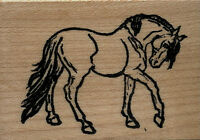 Mounted Rubber Stamps Show Horse Small Wood Mount 1 3/4 X 2 1/2