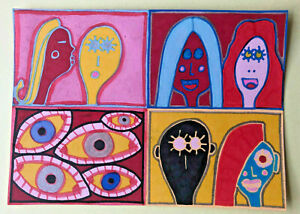 Original-Painting-Drawing-by-Jay-Snelling-Outsider-Art-Brut-LGBTQIA