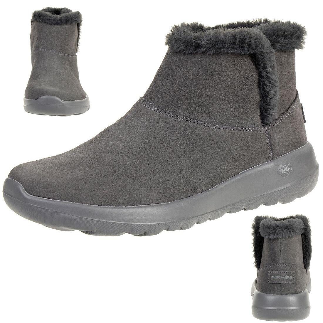 Skechers on the go Joy Bundle up stivali Wouomo Winter scarpe Padded grigio