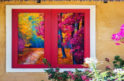Details about  /3D Maple 1660NAO Window Film Print Sticker Cling Stained Glass UV Block Fa