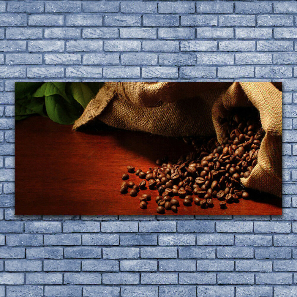 Print on Glass Wall art 140x70 Picture Image Coffee Coffee Coffee Beans Kitchen 101ff3