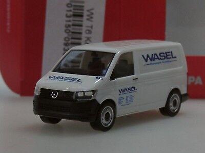 Wasel Krane Servicefahrzeug 1:87 NEU herpa 093644 VW T6 Kombi OVP
