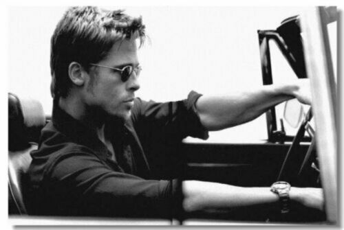 Poster Brad Pitt Movie Star Room Club Art Wall Cloth Print 203