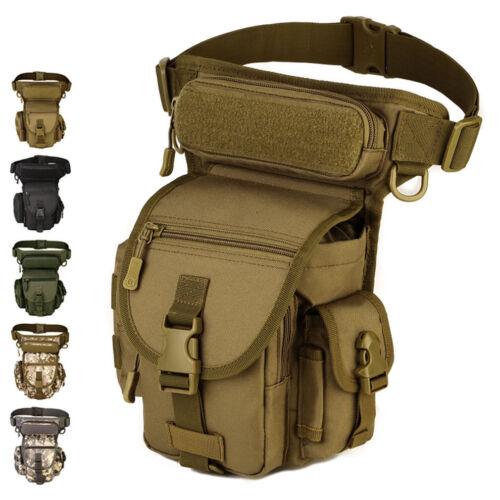 Men/'s Waterproof Nylon Tactical Military Leg Bag Hip Drop Belt Waist Fanny Pack