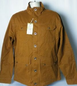 Ocean-amp-Coast-Full-Zip-Button-Up-Lightweight-Jacket-Brown-Mens-Large-NEW