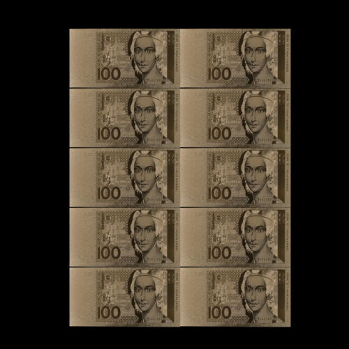 Germany Bill 100 Deutsche Mark Banknote Gold Money Gift for Value Collection