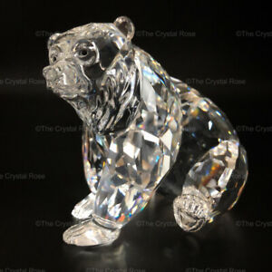 RARE-Retired-Swarovski-Crystal-Grizzly-Bear-243880-Mint-Boxed