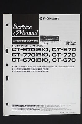 Aufstrebend Pioneer Ct-970 Ct-770 Ct-670 Original Service-manual/circuit Descriptions O114 Weitere Rabatte üBerraschungen