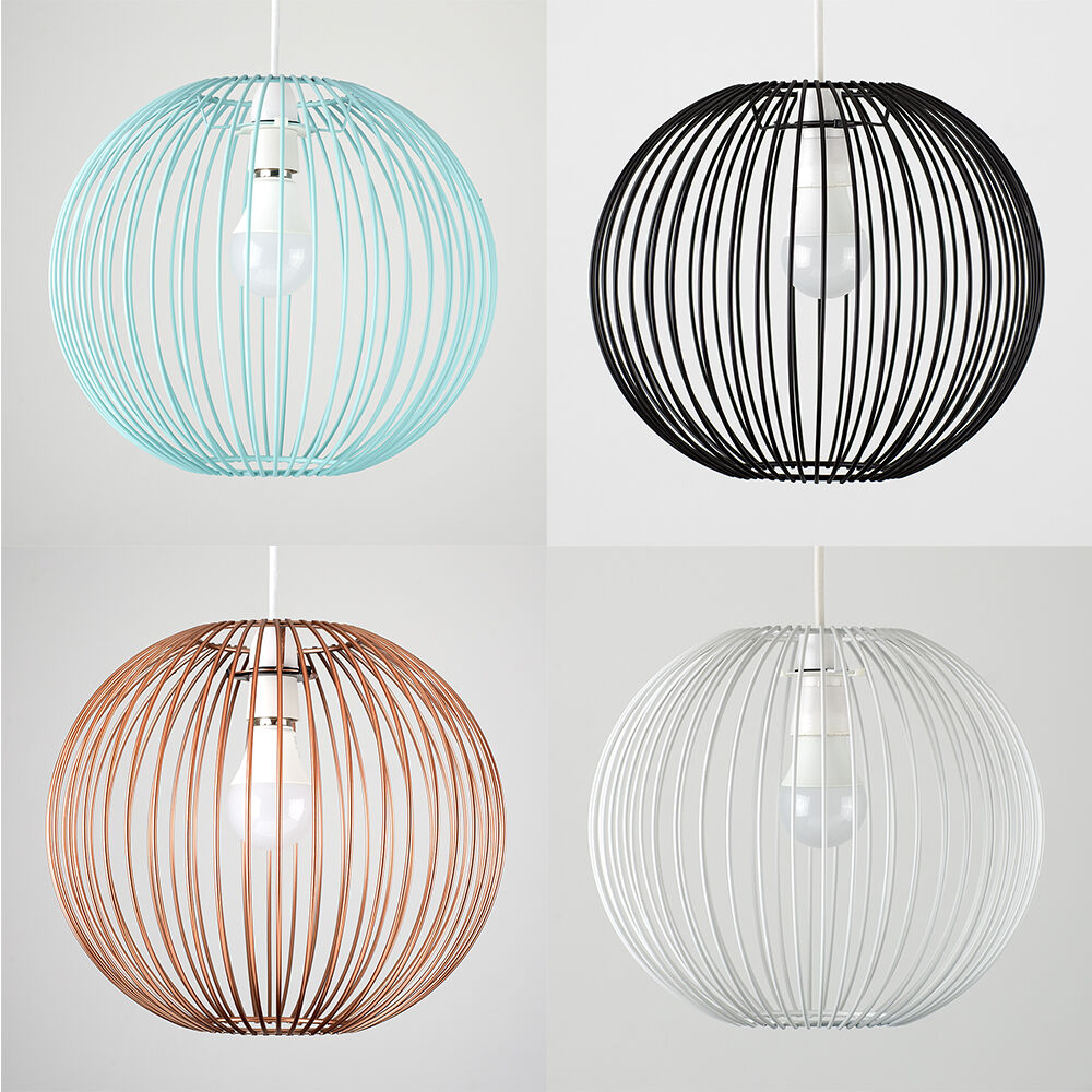Wire lampshade ebay modern wire ball non electric easy fit ceiling light shade pendant lampshade greentooth Gallery