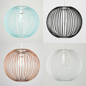 Wire light shades wire center modern wire ball non electric easy fit ceiling light shade pendant rh ebay co uk wire lamp shades frame wire light shades uk greentooth Choice Image