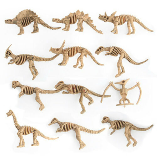 Mini 12Pcs Simulation Dinosaurs Skeleton Model Set Action Figure Model Toys