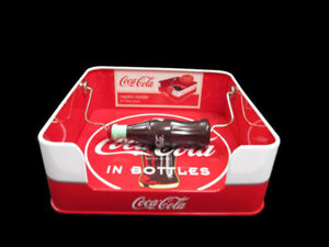 Coca-Cola Tin Napkin Holder with Contour Bottle Weight Drink Coca-Cola
