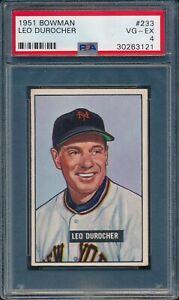 1951-Bowman-Baseball-Leo-Durocher-233-PSA-4-GIANTS-VG-EX-HOF