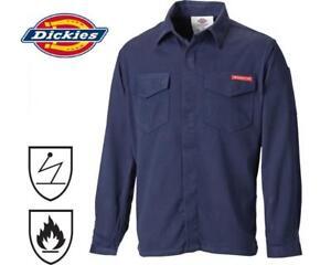 Dickies-Modacrylic-Lightweight-Shirt-Flame-Retardant-Work-FR6102