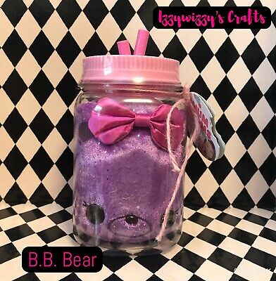 Num Noms Surprise in A Jar Purple B.B Bear Plush NEW NIP Smell Great