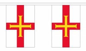 Jersey 6 metre long 20 flag bunting