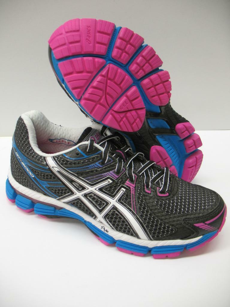 New Asics T2K7N GT-2000 Running Training Racing Shoes Sneakers Black Womens 5 Brand discount