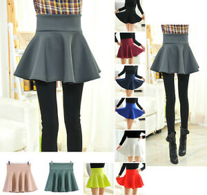 Mini-Gonna-Donna-Vita-Alta-High-Waist-Mini-Skater-Ball-Skirts-130010B